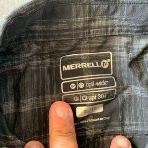 Merrell Shirts - Merrell button up shirt sleeve